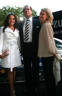 Roger Moore, Estefania Kuester and wife Christina Tholstrup at the DTM Come Together party.