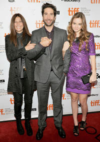 Catherine Keener, director David Schwimmer and Liana Liberato at the Canada premiere of
