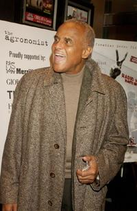 Harry Belafonte at the New York benefit premiere of