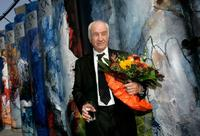Armin Mueller-Stahl at the Frankfurt Book Fair, attends the unveiling ceremony.