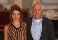 Armin Mueller-Stahl and Jessica Schwarz at the photocall for