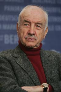 Armin Mueller-Stahl attends a jury press conference at the Berlinale, Berlin's international film festival.