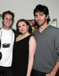 Henry Joost, Lena Dunham and Yaniv Schulman at the New York premiere of