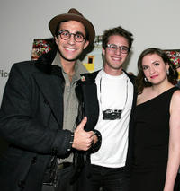 Ariel Schulman, Henry Joost and Lena Dunham at the New York premiere of