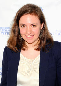 Lena Dunham at the off-Broadway opening night of