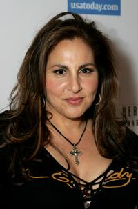 Kathy Najimy at the celebration honoring Geena Davis as this year's Hollywood Hero.