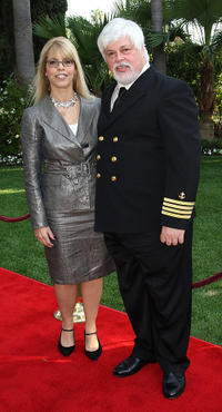 Producer Marjorie Kaplan and Paul Watson at the Second annual Television Academy Honors Awards in California.