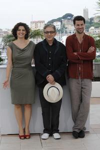 Saleh Bakri, Samar Qudha Tanus and Elia Suleiman at the photocall of
