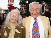 Noel Neill and Jack Larson at the premiere of