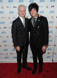 Tim Gunn and Seth Aaron Henderson at the 2010 A&E Upfront in New York.