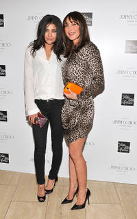 Jessica Szohr and founder/president of Tamara Mellon Jimmy Choo at the Jimmy Choo Fragrance launch in New York.