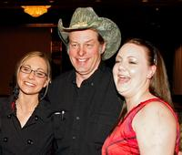 Jen Wall, Ted Nugent and Beth McPherson at the National Bowhunters Hall of Fame during the National Field Archery Association's World Archery Festival.
