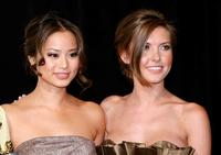 Jamie Chung and Audrina Patridge at the ShoWest awards ceremony.