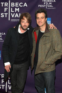 Joshua Leonard and Ross Partridge at the New York premiere of