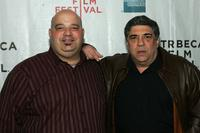 Bobby Funero and Vincent Pastore at the premiere of
