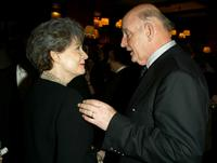 Polly Bergen and Peter Boyle at the after-party for broadway comedy