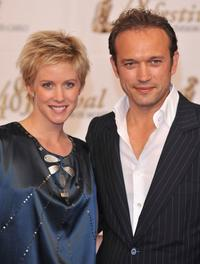 Audrey Looten and Vincent Perez at the TF1 party during the 2008 Monte Carlo Television Festival.