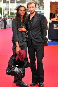 Karine Silla and Vincent Perez at the screening of