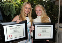 Jennifer Lawrence and Lauren Sweetser at the Eleventh Annual AFI Awards in California.