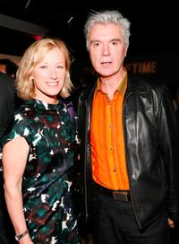 Cindy Sherman and David Byrne at the Creative Time's Annual benefit during the 69th Regiment Armory.