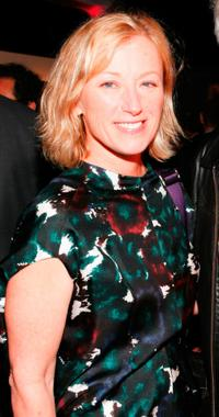 Cindy Sherman at the Creative Time's Annual benefit during the 69th Regiment Armory.