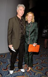 David Byrne and Cindy Sherman at the opening of