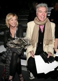 Cindy Sherman and David Byrne at the Marc Jacobs Fall 2007 fashion show during the Mercedes-Benz Fashion Week.