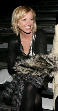 Cindy Sherman at the Marc Jacobs Fall 2007 fashion show during the Mercedes-Benz Fashion Week.