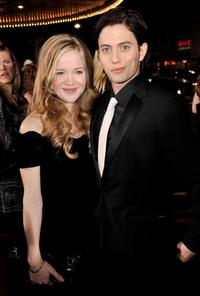 Melissa Rathbone and Jackson Rathbone at the premiere of