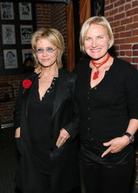 Cindy Pickett and Denise Crosby at the VDAY West LA 2006 cocktail reception.