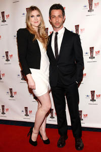 Lilly Rabe and Jeremy Strong at the 26th Annual Lucille Lortel Awards in New York.