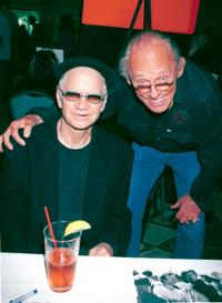 Michael J. Pollard and Frank Gorshin pose at the Hollywood Collectors and Celebrities Show.