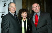 John Ratzenberger, Bob Broder and Rhea Perlman at the Los Angeles Free Clinic's 27th Annual Benefit.