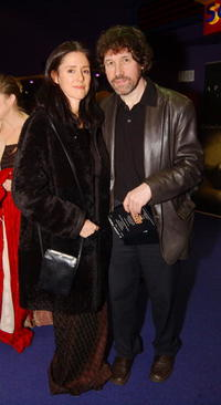 Stephen Rea and Julie Taymor at the premiere of