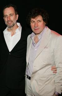 Director James McTeigue and Stephen Rea at the premiere of