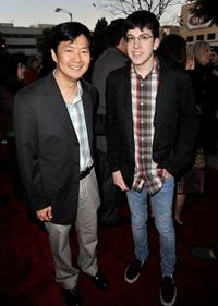 Ken Jeong and Christopher Mintz-Plasse at the premiere of