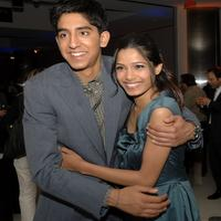 Dev Patel and Freida Pinto at the screening of