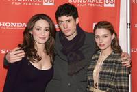 Emmy Rossum, Ashley Springer and Rooney Mara at the screening of