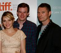 Amy Seimetz, Joe Swanberg and producer Travis Stevens at the premiere of