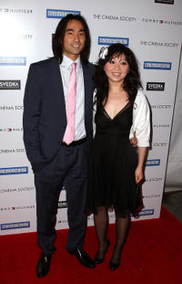 James Liao and Han Thang at the after party of the New York premiere of