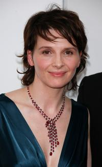 Juliette Binoche at the 32nd Cesars film awards ceremony, during a photo call.