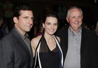 Juliette Binoche, Steve Carell and Dick Cook at the world premiere of Touchstone Pictures