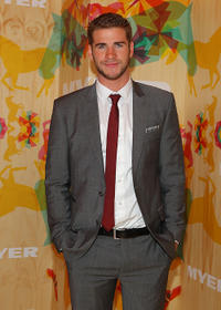Liam Hemsworth at the Myer marquee during Emirates Melbourne Cup Day in Australia.