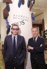 Emanuele Della Valle and Simon Doonan at the Barneys Celebrates Diego Della Valle's Brand Visionary Award.