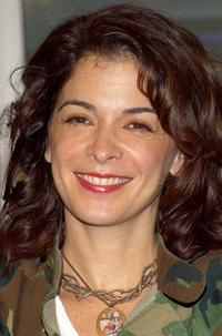 Annabella Sciorra at a media conference at Art Start.