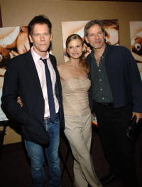 Kevin Bacon, Kyra Sedgwick and Campbell Scott at the premiere of