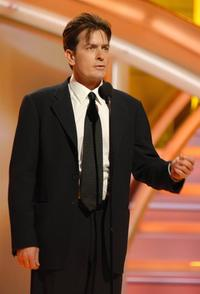 Charlie Sheen at the 64th Annual Golden Globe Awards at the Beverly Hilton.
