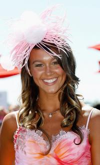 Sharni Vinson at the Junior Kids Fashions on the Field event during the 2005 Emirates Stakes Day.