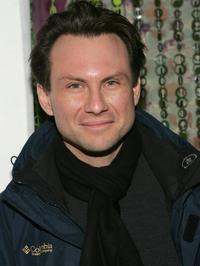 Christian Slater at the Airborne Lounge with Extra during the 2007 Sundance Film Festival.