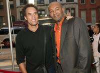 Roger Guenveur Smith and Producer Nelson George at the premiere screening of